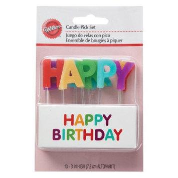 Wilton Happy Birthday Candle Pick Set - 13 ct.
