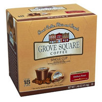 Grove Square Coffee, Medium Roast, Single Serve Coffee Cup for Keurig K-Cup Brewers, 18-Count (Instant Coffee)