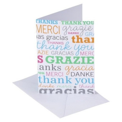Spritz Multi-language Thank You Cards 10-ct.