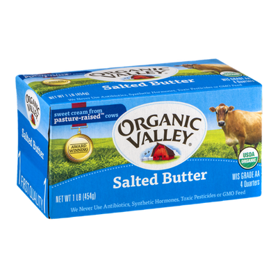 Organic Valley Salted Butter - 4 CT