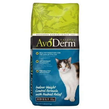 AvoDerm Natural Indoor Weight Control Formula with Hairball Relief Adult Cat Food, 7-Pound