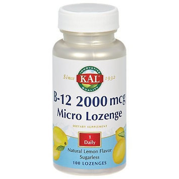 KAL - Vitamin B-12, 2000 mcg, 100 lozenges Health and Beauty