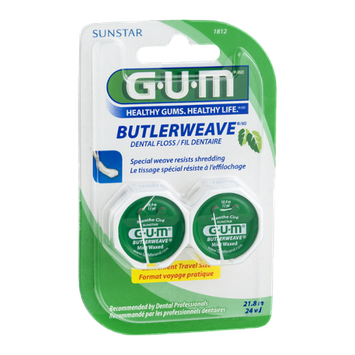 GUM Butlerweave Dental Floss - 2 CT