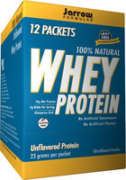 Jarrow Formulas 100% Natural Whey Protein Unflavored 12 Packets