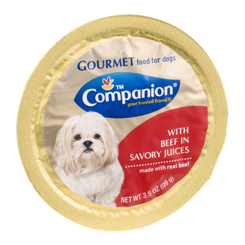 Companion Gourmet Food for Dogs with Beef