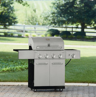 Kenmore 4-Burner Stainless Steel Gas Grill Silver