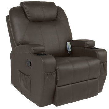 Sky Best Choice Products Massage Recliner Sofa Chair Heated W/ Control Ergonomic