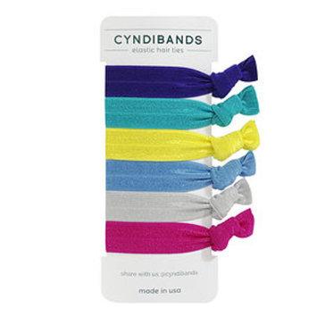 Cyndibands CyndiBands Set of 6 Hair Ties, Addison, 1 ea