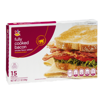 Ahold Fully Cooked Bacon - 15 CT