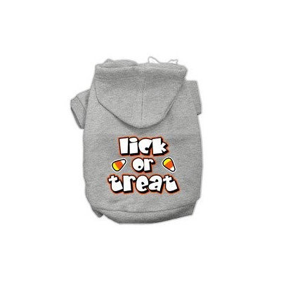 Mirage Pet Products Lick Or Treat Screen Print Pet Hoodies Grey XS (8)
