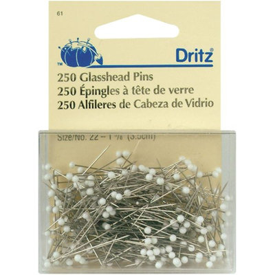 Dritz Extra-Fine Glass Head Pins - Size 22 250-pack