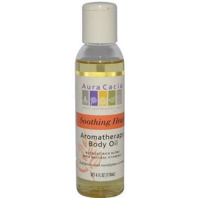 Aura Cacia Soothing Heat, Aromatherapy Body Oil, 8-Ounce Bottle,
