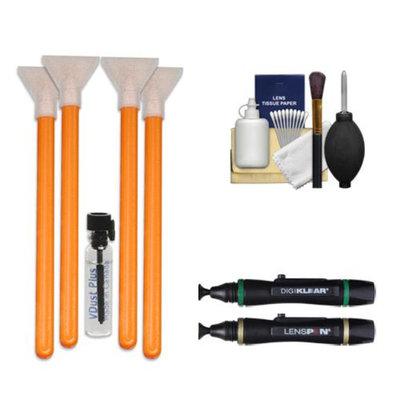 VisibleDust EZ Sensor Cleaning Kit for Size 1.0x Digital SLR Cameras with 1ml Liquid vDust Plus & 4 Vswabs + (2) Lenspen + Cleaning Accessory Kit