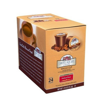Grove Square Coffee, Medium Roast, Single Serve Coffee Cup for Keurig K-Cup Brewers 24-Count (Instant Coffee)