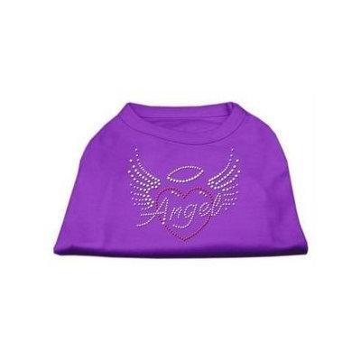Ahi Angel Heart Rhinestone Dog Shirt Purple XL (16)