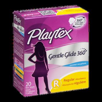 Playtex Plastic Tampons Gentle Glide 360 Regular Unscented - 20 CT