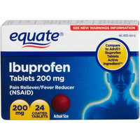 Equate - Ibuprofen 200 mg, Pain Reliever/Fever Reduce, 24 Coated Tablets (Compare to Advil)