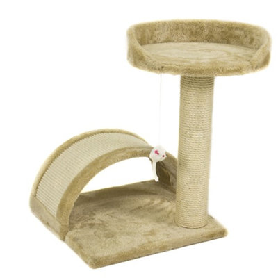 Sky Cat Tree Post Scratcher Furniture Play House Pet Bed Kitten Toy Beige New
