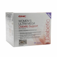 GNC Women's Ultra Mega Diabetic Support Vitapak, 30 ea