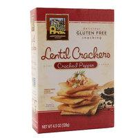 Mediterranean Snack Food Baked Lentil Crackers Cracked Pepper