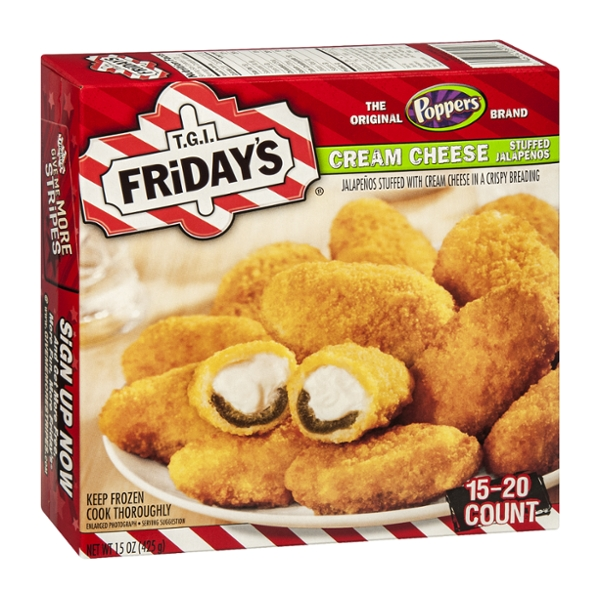T.G.I. Friday's Poppers Stuffed Jalapenos Cream Cheese