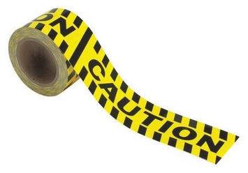 BRADY 58255 Caution Marking Tape, Roll,3In W,60 ft. L