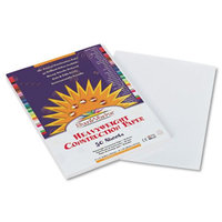 Pacon SunWorks Construction Paper, 58 lbs, 9 x 12, White, 50