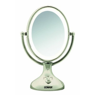 Conair BE18NX Nickel Double Sided Lighted Makeup Mirror
