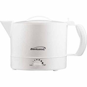 Brentwood KT-32W 32 oz Plastic Hot Pot