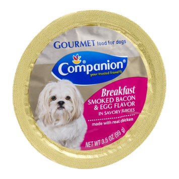 Companion Gourmet Breakfast Food for Dogs Smoked Bacon & Egg Flavor