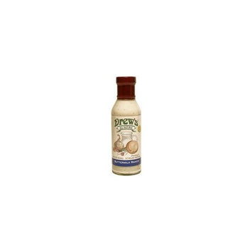 Drews All Natural Drew's All-Natural Salad Dressing and 10 Minute Marinade, Buttermilk Ranch, 12-Ounce Bottle