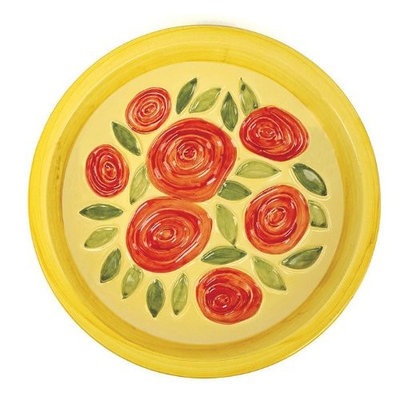 Achla Designs Yellow Roses Bowl (Discontinued by Manufacturer)