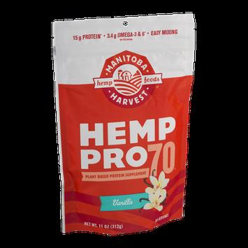 Manitoba Harvest Hemp Pro 70 Plant Based Protein Supplement Vanilla