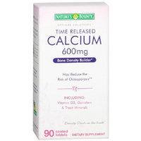 Nature's Bounty Optimal Solutions Time Released Calcium 600 mg