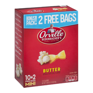 Orville Redenbacher's Gourmet Popping Corn Mini Bags Butter - 12 CT
