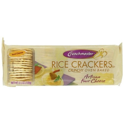 Crunchmaster Artisan Four Cheese Rice Cracker, 3.5-Ounce (Pack of 12)