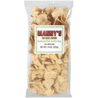 Manny's: Restaurant Style 100% White Corn Tortilla Chips, 15 Oz