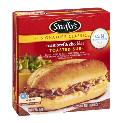 Stouffer's Signature Classics Roast Beef & Cheddar Toasted Sub