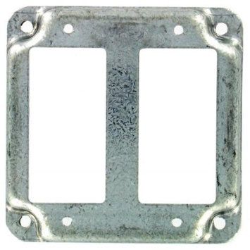 Hubbel Electric Raco 809C 4 inch Square 2 GFCI Exposed Work Cover