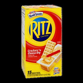 Kraft Handi-Snacks Ritz Crackers 'n Cheese Dip Snack Packs - 15 CT
