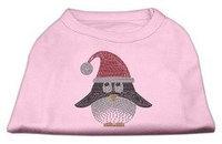 Mirage Pet Products Santa Penguin Rhinestone Dog Shirt Light Pink XL (16)