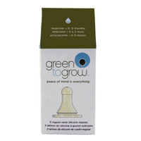 Green To Grow Replacement Silicone Nipple, Regular Neck, Beginner, 3 per Pack; 2-packs