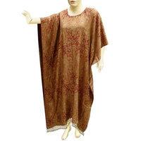 Royal Kraft Jamawar Cotton Kaftans Caftan Women Evening Long Wear In Paisley Design (Free Shipping) Cftn0035