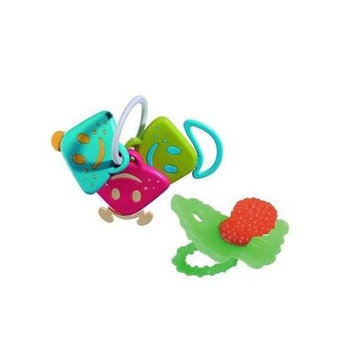 Vulli Chan Pie Gnon Rattle Keys and RaZbaby Teether (Red)