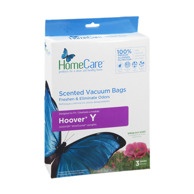 HomeCare Vacuum Bags Hoover Y Spring Day Scent - 3 CT