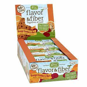 Gnu Foods Orange Cranberry Flavor & Fiber Bars