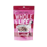 Whole Life Pet Products Whole Life Pet Single Ingredient USA Freeze Dried Venison Treats for Dogs, 2-Ounce