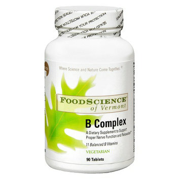 FoodScience of Vermont Vitamin B Complex Dietary Supplement Tablets