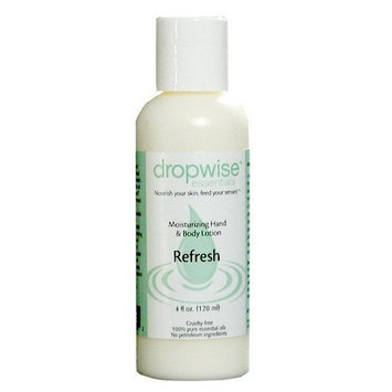 Dropwise Essentials Organic Dry Skin Hand & Body Lotion - Revitalize Aromatherapy Blend