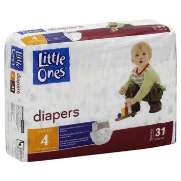 Kmart Corporation Little Ones Diapers, Large, Size 4 (22 37 lb), Jumbo Pack, 31 diapers - KMART CORPORATION